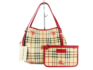 dc6186ddc0ed Sold Out BRAND NEW Burberry Military Red Haymarket Canterbury Tote