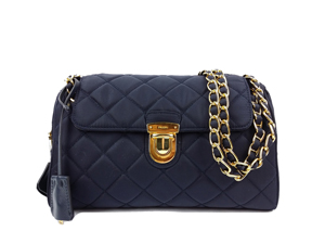 75a32dab3 ... coupon code for sold out brand new prada blue tessuto impuntu chain bag  br4965 1f507 b4908