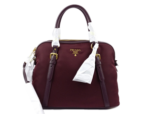 a1641a61f2 Sold Out BRAND NEW Prada Granato Tessuto+Soft Calf Leather Two Way Tote  BL0912