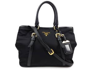 7848d3191af9 SOLD OUT Prada Black Nylon BN1841 Two Way Tote