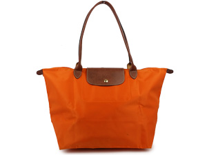 SOLD OUT Longchamp Le Pliage Large Long Handle Shoulder Tote Orange cd5a9a97b5