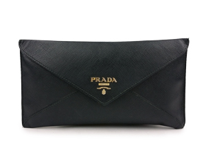 b488226b275f42 ... clearance sold out prada saffiano leather envelope wallet in black  1mf175 808aa 8d042