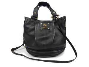 87ea60650645 SOLD OUT Burberry Blue Label Black Leather Bucket Bag