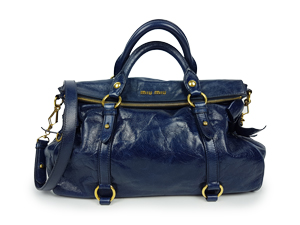 3202fbfdf92af SOLD OUT Miu Miu Vitello Shine Blue Lux Bow Bag