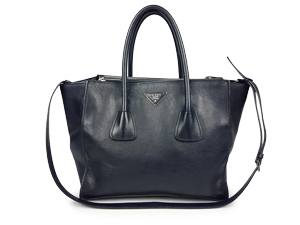 8396a25deb62 Prada Baltic Blue Calf Leather Two Way Tote