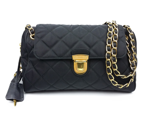 5ac04b707d SOLD OUT Prada Nero Tessuto Impuntu Chain Bag BR4965