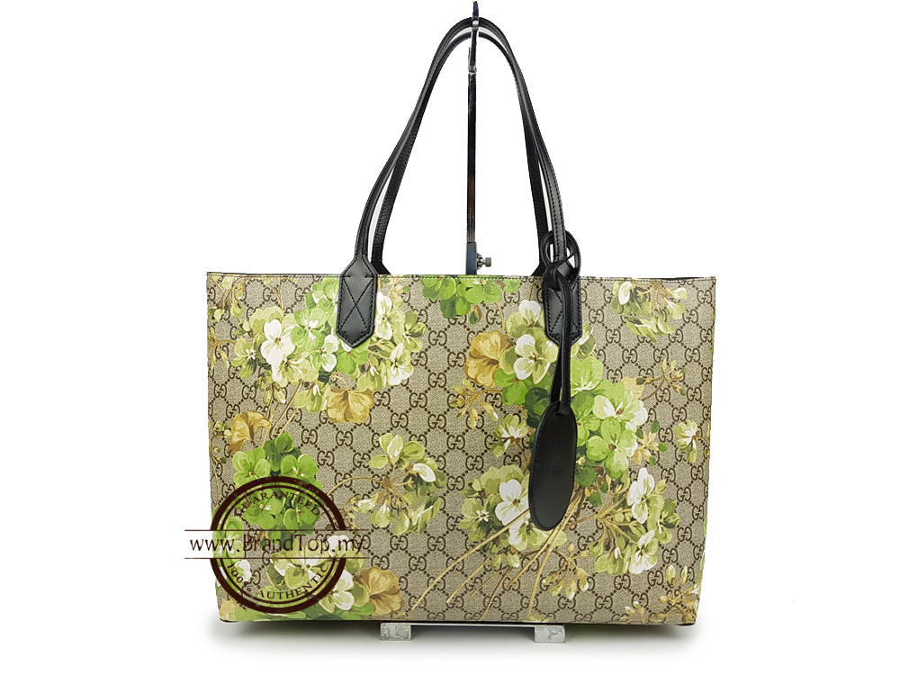 8a0772eb230b SOLD OUT BRAND NEW Gucci Reversible GG Blooms Leather Tote Bag