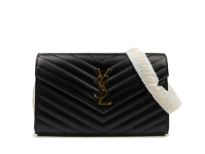 7b7530dc66 SOLD OUT BRAND NEW Ysl Yves Saint Laurent Monogram Chain Wallet